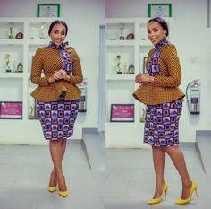 Most of us decide on Ankara Styles that offer you freedom and comfort to appear in around. Ankara styles for weekends arrive in many patterns and designs. It is your substitute to make once it comes to selecting the absolute Ankara Styles for your event. Ankara Skirt And Blouse, Ankara Dress Styles, Trendy Ankara Styles, Blouse Styles, African Attire, African Wear, African Dress, African Lace, African Style