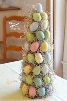 Easter eggs topiary tree | Cottage at the Crossroads