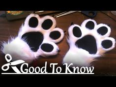 Good To Know *PuffyPaws* Always wondered how those adorable puffy over-sized hand paws are made? Here I demonstrate how to make them. Fursuit Paws, Fursuit Head, Fursuit Tutorial, Wolf Costume, Cheetah Costume, Cat Costumes, Halloween Costumes, Cosplay Tutorial, Costumes
