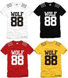Camiseta EXO ( Wolf 88 ) / Codigo: 1022  Talla: S,M,L,XL  Color :Rojo, Negro, Blanco, Amarillo