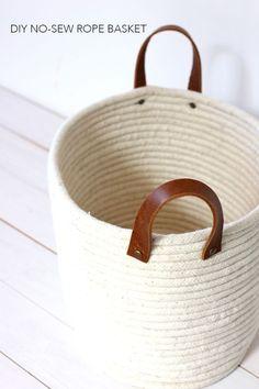 Diy Crafts Ideas : DIY No-Sew Rope Coil Basket