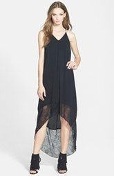 Wayf Lace Border Maxi Dress