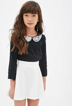 Forever 21 girls Geo-Patterned Skater Skirt (Kids) on shopstyle.com