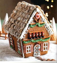 My favorite thing to do on Christmas break is make a gingerbread house. This year, I want to go big- maybe a more elegant, homemade house is in store for me this Christmas.