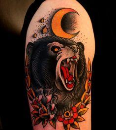 Traditional Tattoo Bear