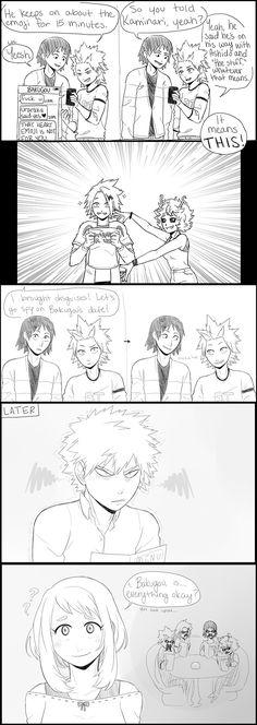 Bakugou × Uraraka & Kirishima & Sero & Kaminari & Ashido   They'll never suspect a thing ヽ(´▽`)/