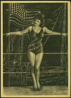 Georgia no3 USA Flag Semi-Nude Burlesque Propaganda Leaflet  One of the so-called 'Georgia' sexual propaganda leaflets prepared by the Germans and dropped on the Allies in Italy. A series of six -- this is Georgia No3, leaflet 329-11-44. Produced by the SS Suedstern (Southern Star) organization at the end of 1944.