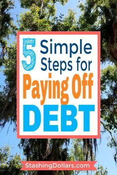 Got debt? Get information on how to pay off debt fast. These 5 simple steps will have you on your way to debt freedom quickly. Small Business Credit Cards, Paying Off Credit Cards, Debt Repayment, Debt Payoff, Debt Consolidation, Credit Card Interest, Get Out Of Debt, Budgeting Money, Debt Free