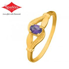 Lustrous emerald ring Price: 8,694 Oval emerald blended with meticulously textured and beaten to form shinny self gold. More Info: http://www.sparklesindia.com/…/colour…/lustrous-emerald-ring