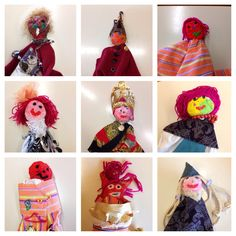 Puppets made by 8 years old children