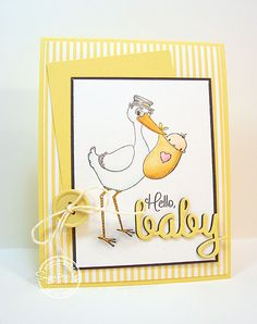 Hello Baby card-designed by Lori Tecler/Inking Aloud-stamps and dies from SugarPea Designs