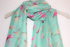 Dragonfly Scarf, Blue DragonFly Scarf, Blue Accessories, Spring Summer Scarf, Animal Scarf, Insects, Casual Formal Autumn Wear, Nature by JigweNewHorizon on Etsy https://www.etsy.com/uk/listing/220598278/dragonfly-scarf-blue-dragonfly-scarf