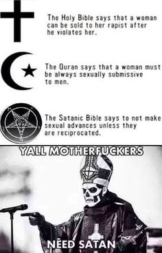 I'm not a satanist FYI
