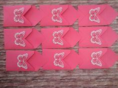 Einsteck-Umschläge Einladungskarten Geburtstag mit Schmetterlings Thinlits