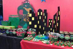 City scene background--TMNT Party Theme