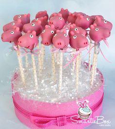 Pink Peppa Pig Cake Pops - SmartieBox Cake Studio