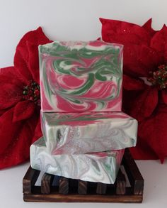 EUCALYPTUS MINT Scented Moisturizing Handmade body soap. Handcrafted using the cold process method with Goats Milk, Buttermilk & Kaolin Clay by SudsNScentsCo on Etsy