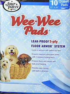 10 Pack, Leak-Proof Floor Armor System Pads for Dog -- You can find out more details at the link of the image. (This is an affiliate link and I receive a commission for the sales) Dog Training Pads, Dog Crate, Dog Houses, Pet Supplies, Cute Dogs, Puppies, Flooring, Pets, Image Link