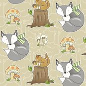 Forest Friends by pattysloniger, click to purchase fabric