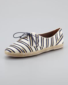 0c587ad064 Tie-Striped Flat Espadrille Sneaker