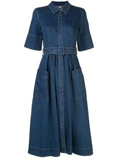 Vintage 1980s Royal Blue Dress Accordion Pleated Dress Blue Midi Dress 34 Sleeves Dress Buttons Up Bodice Medium Size Dress