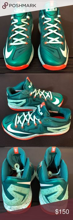 "Nike LeBron 11 Low Biscayne Size 8.5 New Never worn No box  Nike LeBron 11 Low ""Biscayne"" Color: Mystic Green/White-Medium Mint Style Code: 642849-313 Release Date: 09/06/14 Nike Shoes Sneakers"