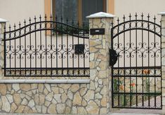 Front Wall Design, House Fence Design, Modern Fence Design, Compound Wall Design, Iron Gate Design, Boundary Walls, Wrought Iron Fences, Brick Fence, Railing Design