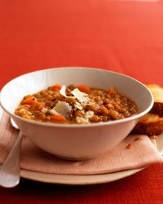 Awesome Lentil Soup Recipe - Pair lentils with your favorite vegetables to make this flavorful, hearty soup.