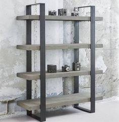 davidi Design beton Wandkast,€647,-, Trendy, staal en beton, koel, stoer, industrieel