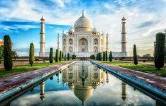 Il mausoleo Taj Mahal in India, sito patrimonio dell'umanità