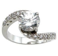 Estrella's Sterling Silver Swirling CZ Ring - Only $37.95 — Fantasy Jewelry Box