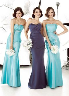 Elegant Strapless Long Bridesmaid Gowns