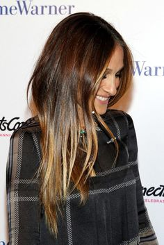 Hair Inspiration: Sarah Jessica Parker With Long Glossy Sombre Locks