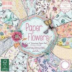 Trimcraft First Edition Premium Paper Flowers Paper Pad 64 Pack 6 x 6 >>> You can find more details by visiting the image link.Note:It is affiliate link to Amazon.