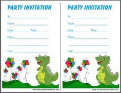 free printable dinosaur birthday invitations