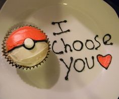 i will get proposed like this one day . . . instead of a cupcake , it'll be an actual pokemon ball !