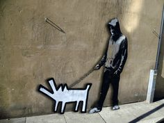 The famous satirical street art by Banksy has been turned into a series of animated GIFs by Serbian artist ABVH. By adding some degree of motion to an originally still. Banksy Graffiti, Street Art Banksy, Banksy Artwork, Bansky, Beste Gif, Animated Gifs, Creators Project, Famous Artwork, Street Art Graffiti