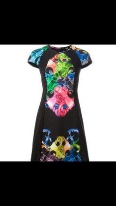 versus graphic print fitted dress