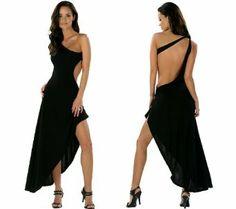 Backless one shoulder dress