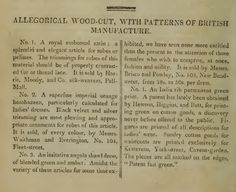 """Patterns of British Manufacture."" February 1810."