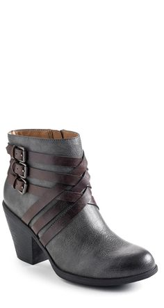 "In love with the contrast strap detail on these Eurosöft® ""Phoebe"" Casual Booties"