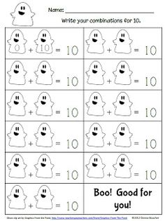 Math Coach's Corner: Boo! Ghostly Math Fun