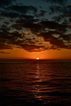 Sunset over St. Maarten waters,United States Virgin Islands