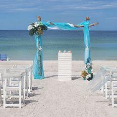 #beachwedding #ceremonyarch #destinationwedding #weddingplanner #weddingdecor Beach Ceremony, Ceremony Arch, Beach Weddings, Simple Weddings, Wedding Planner, Destination Wedding, Anna Maria Island, Treasure Island, Ceremony Decorations