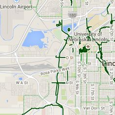 Want to find a good biking route to your destination in Lincoln? Click here to map your route!
