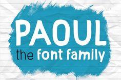 Paoul - The Headliner; Font Family by Vítek Prchal on @creativemarket