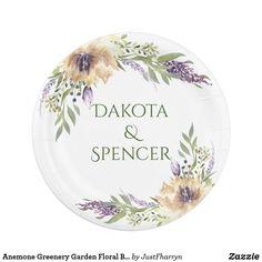 Anemone Greenery Garden Floral Boho Modern Wedding Sticker #bohochic #bohochic #bohowedding