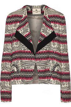 Etro Printed crepe blazer | THE OUTNET