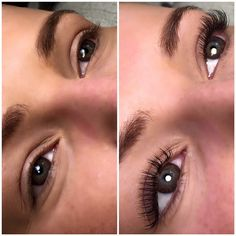 Vippeextensions Lash extensions before and after