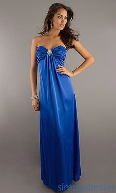 Long Classic Formal Gown at SimplyDresses.com